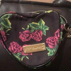 Betsey Johnson heart shaped bag